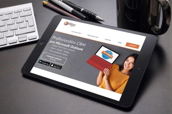Eway - Profesionální CRM pro Microsoft Outlook na tabletu